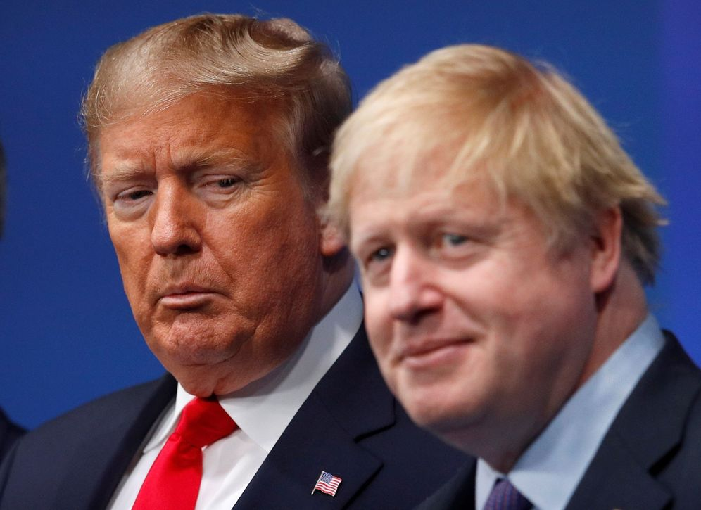 Foto: Trump y Johnson en la cumbre de la OTAN. (Peter Nichols/EFE)