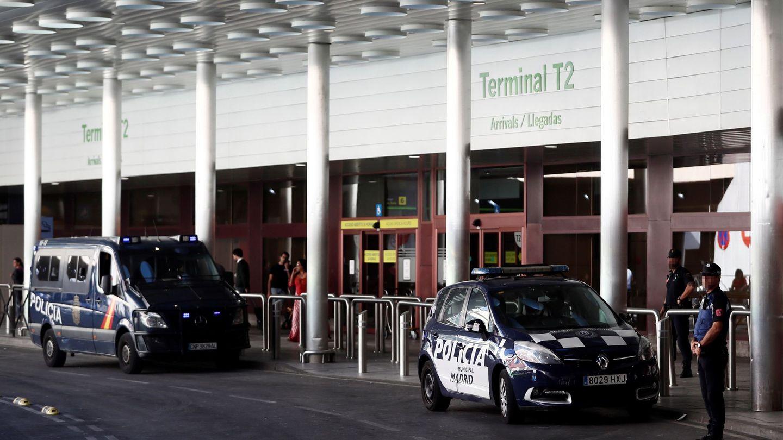 Sin taxis en Barajas. (EFE)