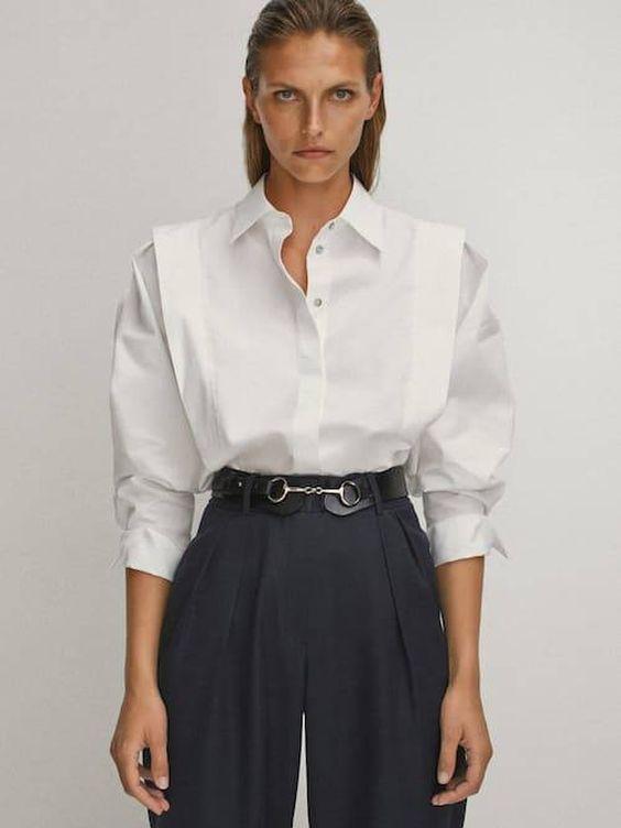 La camisa de Massimo Dutti. (Cortesía)