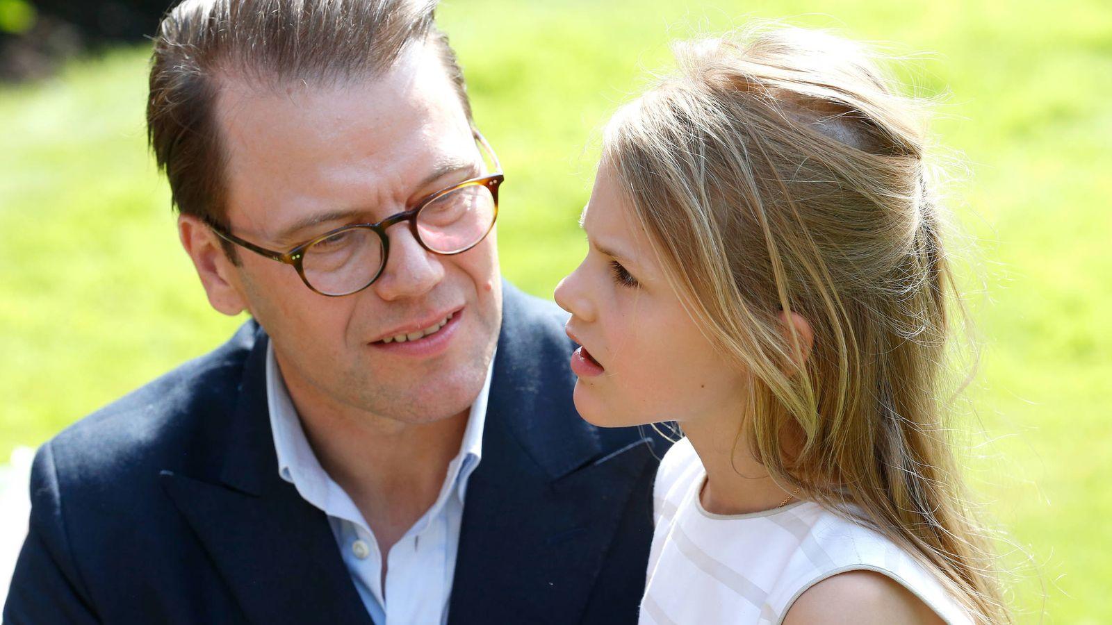 Foto: Daniel de Suecia y la princesa Estelle. (Getty)