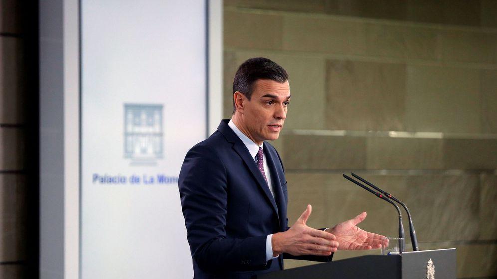 Foto: El presidente del Gobierno, Pedro Sánchez, en rueda de prensa tras el Consejo de Ministros del pasado martes. (EFE)