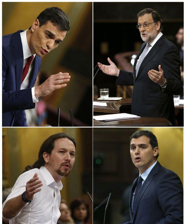 Foto: Combo de fotografías de Pedro Sánchez, Mariano Rajoy, Pablo Iglesias y Albert Rivera. (EFE)