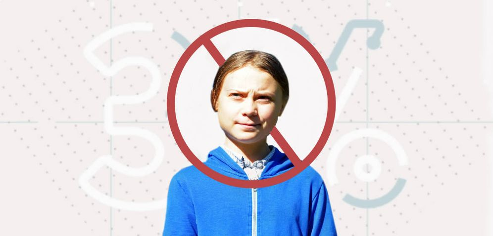 Foto: Hay gente que no es precisamente fan de Greta Thunberg. (Montaje: Enrique Villarino)