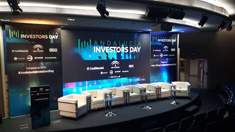 Foto: Escenario del Andalucía Investors Day que se celebra en la sede de CEA. (EC)