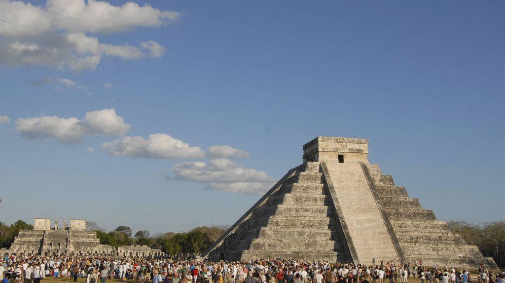 Foto: El Templo de Kukulkán en el que se ha hallado la misteriosa pirámide. (EFE)