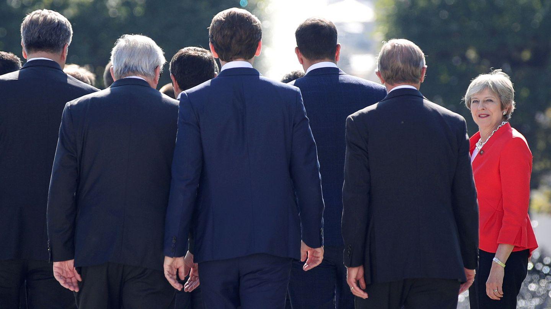 Theresa May chocó con sus socios en la cumbre celebrada hace un mes en Salzburgo. (Reuters)