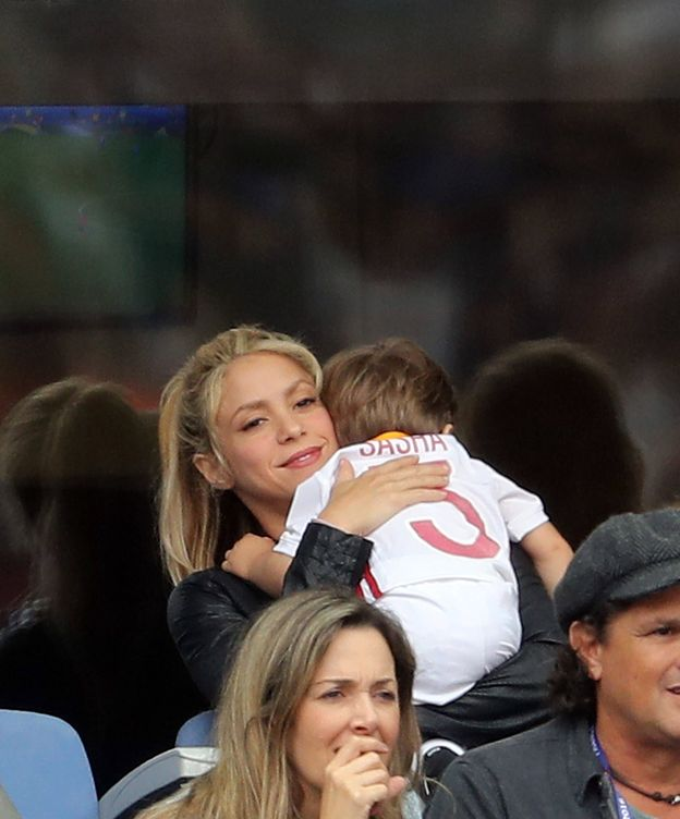 Foto: Shakira con su hijo Sasha en junio (Gtres)