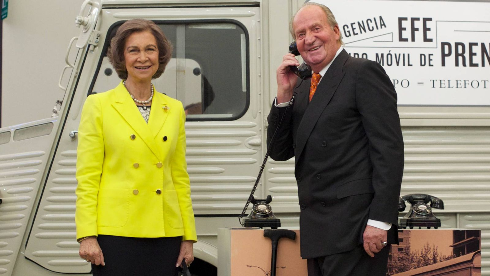 Foto:  Sofía y Juan Carlos, fin de semana por separado. (Getty)