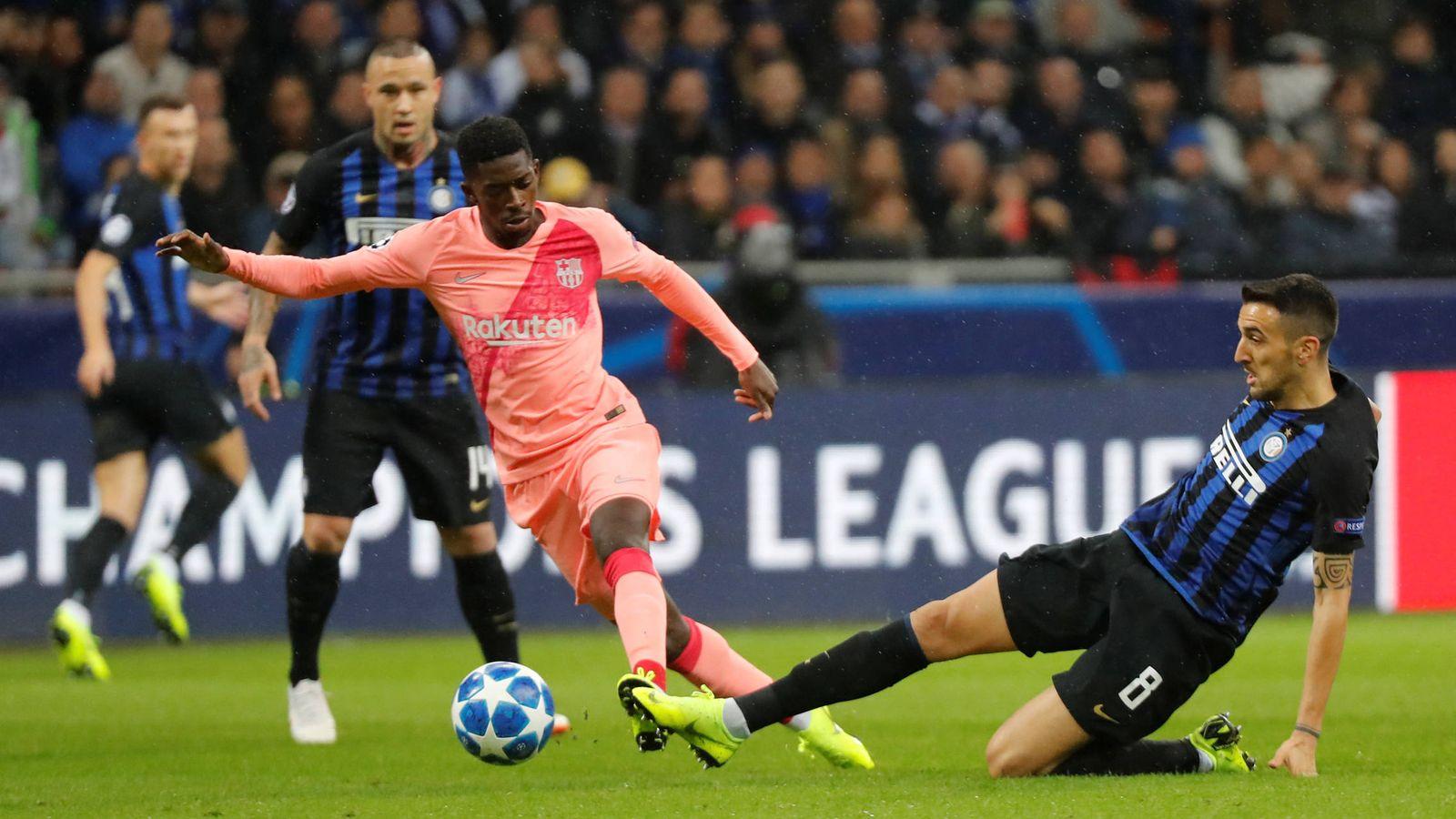 Foto: Dembélé, contra el Inter. (EFE)