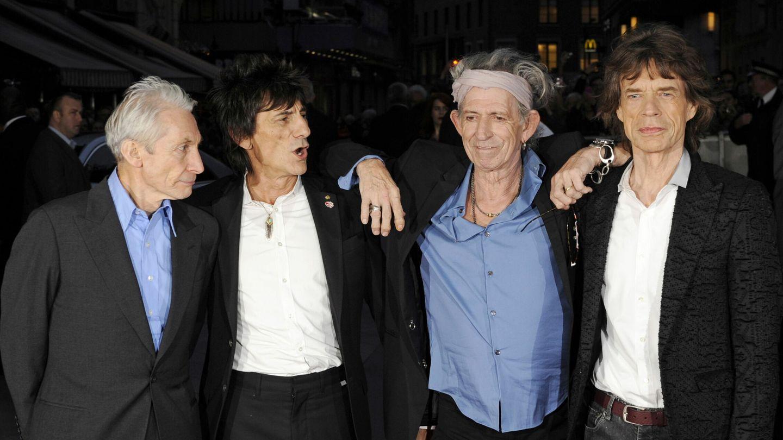 The Rolling Stones: Charlie Watts, Ronnie Wood, Keith Richards y Mick Jagger, en una imagen de 2012. (EFE)