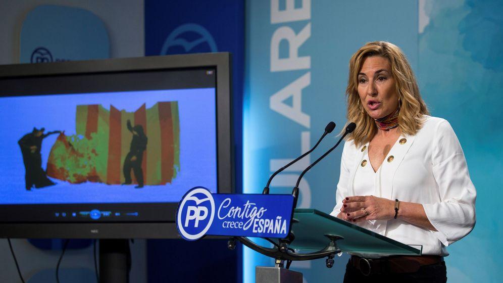 Foto: La presidenta del PP en Navarra, Ana Beltrán. (EFE)