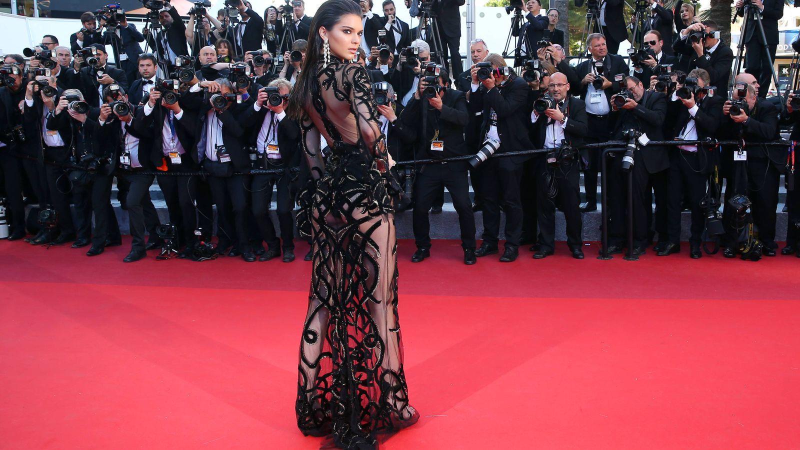 Foto: Kendall Jenner es una de las adeptas a estos tipos de diseño. En la foto, ¿vestida? de Cavalli para la 68 edición del Festival de Cannes. (Foto: Gtres)