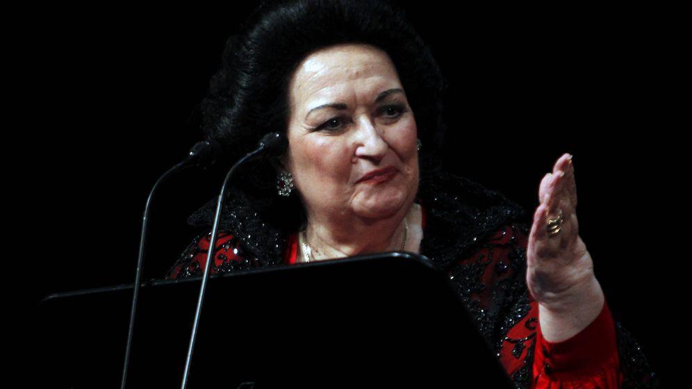 Foto: Montserrat Caballé en una foto en el Liceo de Barcelona en 2012.