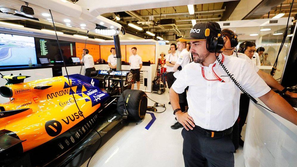 Foto: Fernando Alonso estuvo en el GP de Abu Dabi con McLaren. (McLaren)