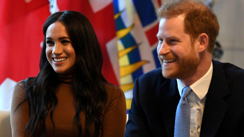 Meghan y Harry, este martes en Londres. (Reuters)