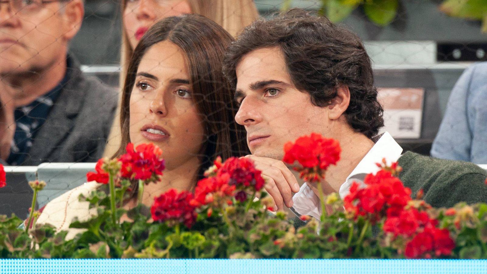 Foto: Sofía Palazuelo y Fernando Fitz-James Stuart y Solís en el Mutua Madrid Open. (Getty)