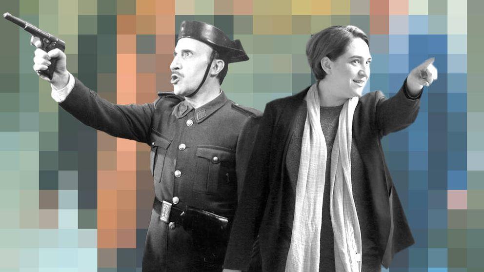 Saza, Colau y el astracán franquista que no cesa