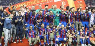 Post de El reinado de Messi no tiene fin y lleva al Barcelona a su tercera Copa seguida