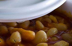 Las sabrosas pochas tudelanas de temporada, del restaurante Villoldo