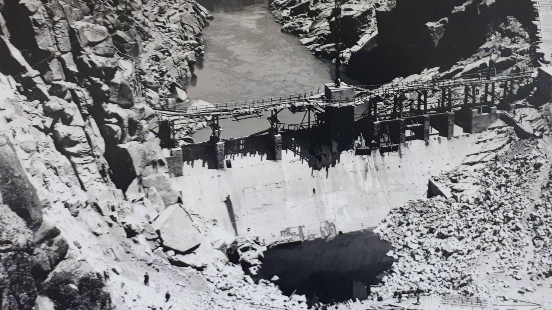 La presa de Ricobayo fue un hito de ingeniería. (Ayuntamiento de Muelas del Pan)