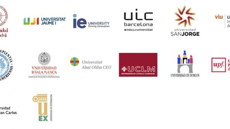 Algunas de las universidades que ofrecen el 'e-título', según la publicidad de la empresa Signe.