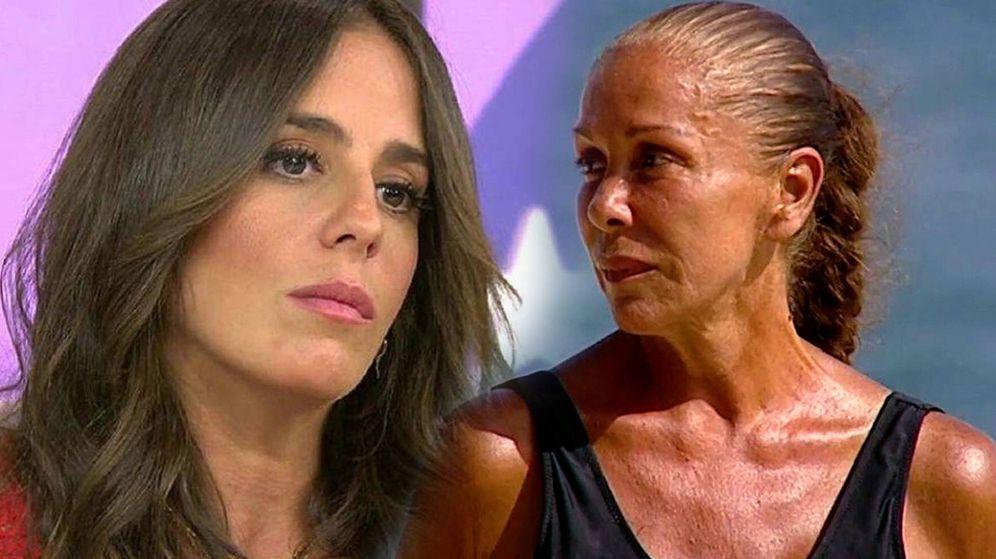 Foto: Anabel Pantoja, en 'Sálvame'; Isabel Pantoja, en 'Supervivientes 2019'. (Telecinco)