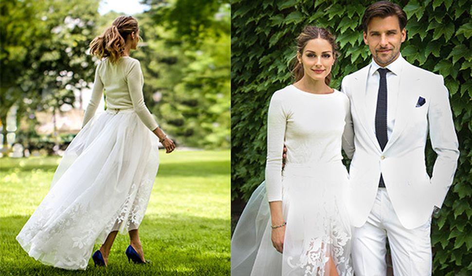 Foto: Olivia Palermo se casa y reinventa el vestido de novia