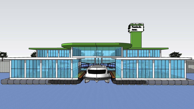 Diseño de una estación de Metrorío (cedida)