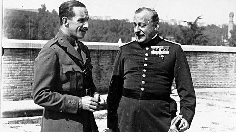 El rey Alfonso XIII con el dictador Miguel Primo de Rivera