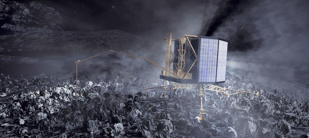 Foto: Philae rebotó un par de veces contra el cometa, pero está en buena forma