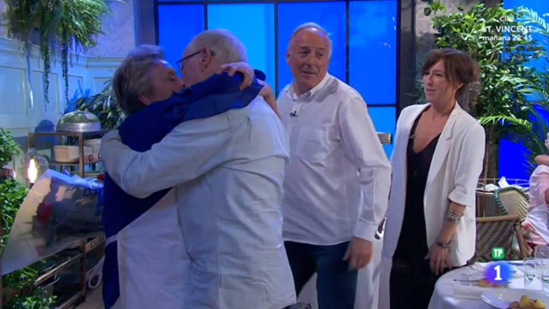 Edurne recibe la ansiada visita de su marido en 'MasterChef 5' (RTVE)