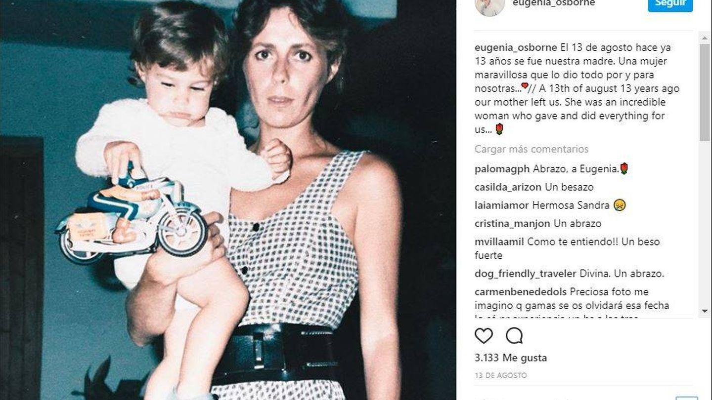Imagen publicada por Eugenia Osborne en Instagram.