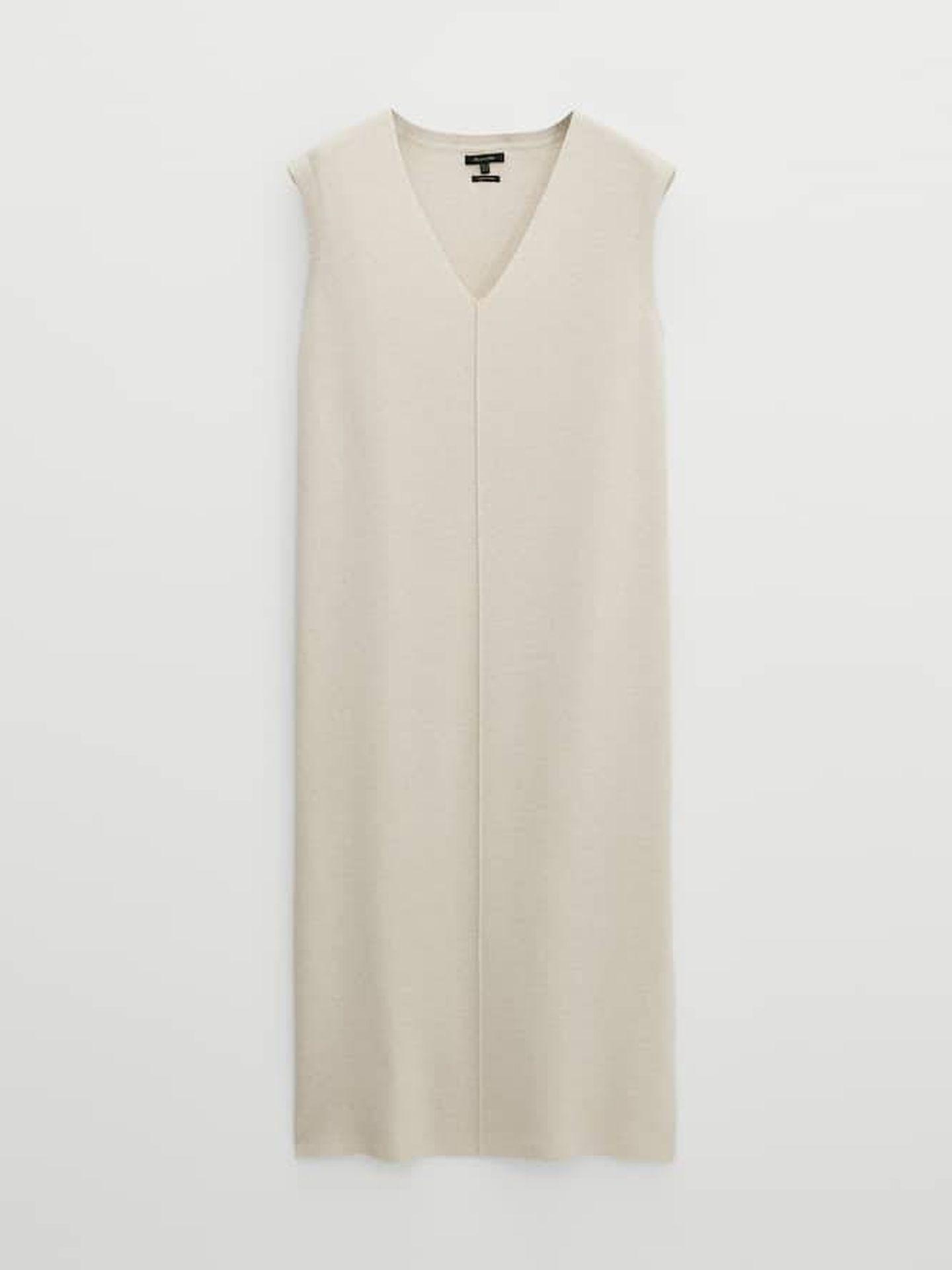 Vestido de punto de Massimo Dutti. (Cortesía)