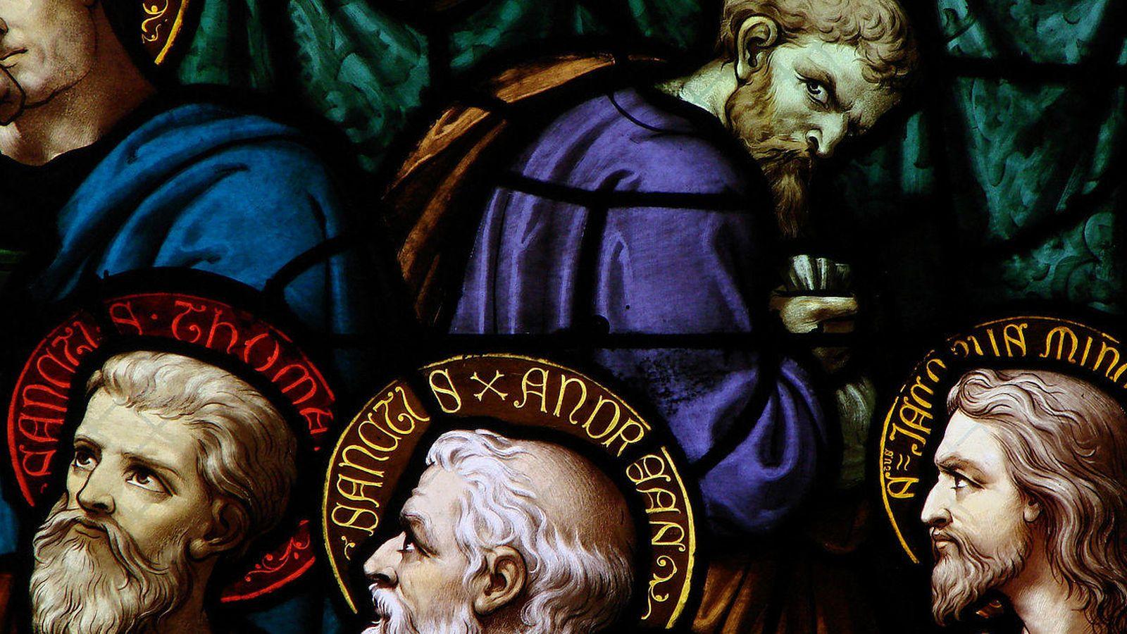 Foto: Judas, en un detalle de la vidriera de la Catedral de Moulins, en Francia (CC/Vassil)