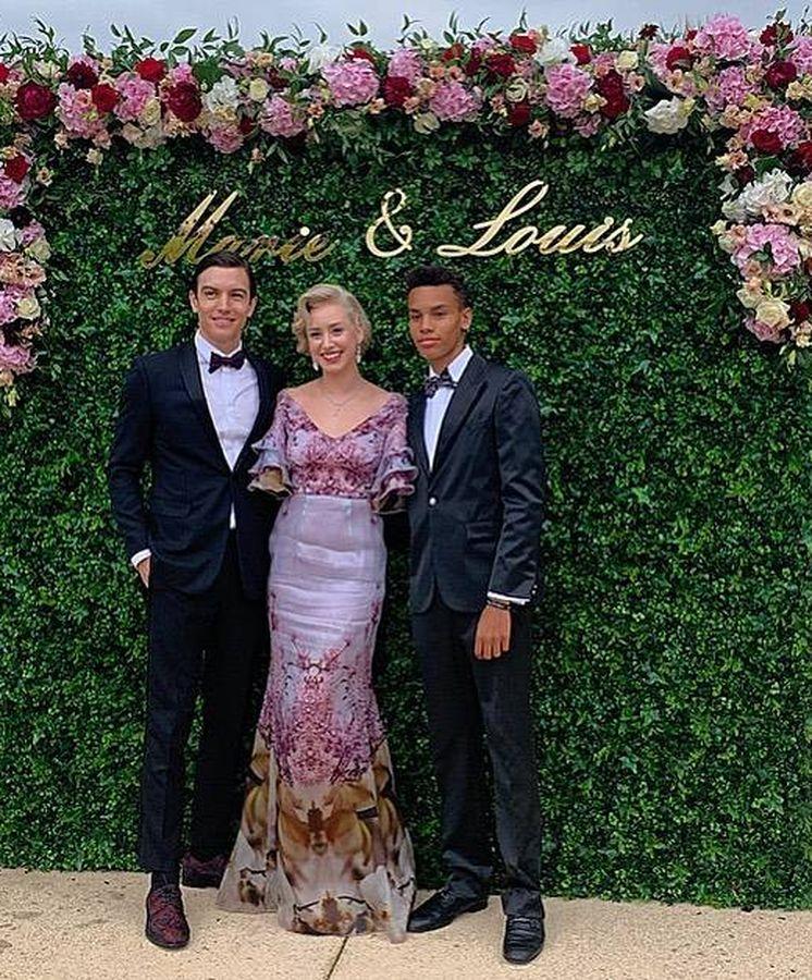 Foto: Alexandre, con su hermana Jazmin Grace y su novio. (IG)