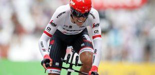 Post de Alberto se baja de la bicicleta antes que ser la sombra de Contador