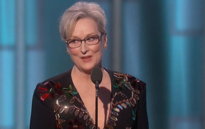 Foto: Meryl Streep durante su discurso