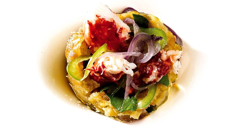 Foto: Mofongo, plato típico de República Dominicana: relleno de cangrejo, plátano asado, chicharrones y cilantro.