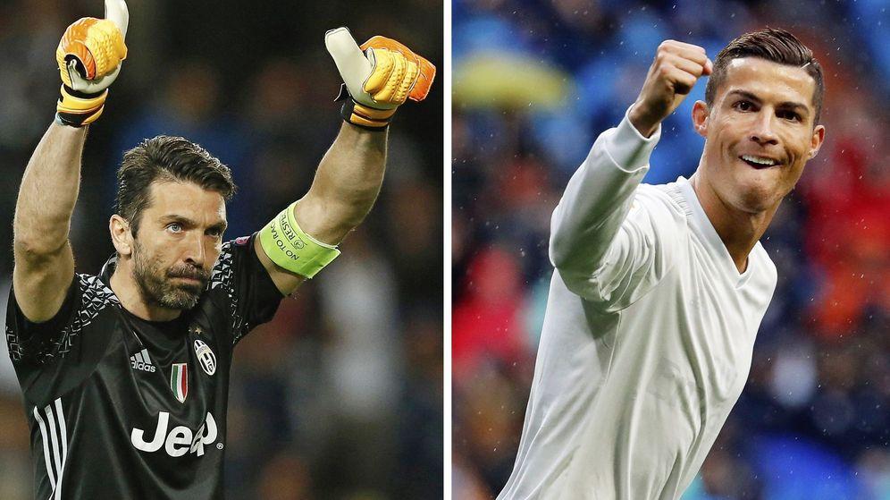 Foto: Buffon y Cristiano Ronaldo, dos símbolos de la final de la Champions en Cardiff. (EFE)