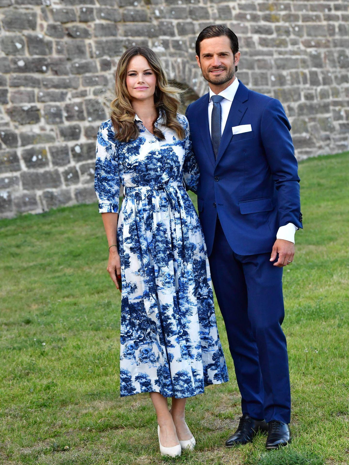 La princesa Sofía y el príncipe Carlos Felipe en el cumpleaños de la princesa Victoria. (Cordon Press)