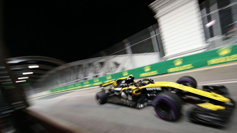 Carlos Sainz durante el Gran Premio de Singapur. (EFE)