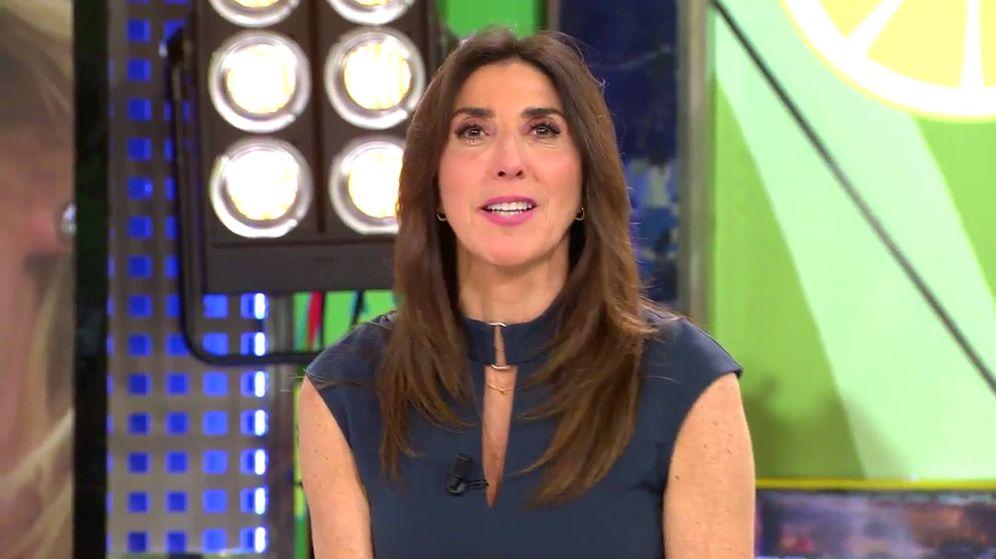 Foto: Paz Padilla, presentadora de 'Sálvame'. (Captura de Mediaset)