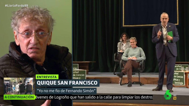 Quique San Francisco opinando sobre Simón. (La Sexta).