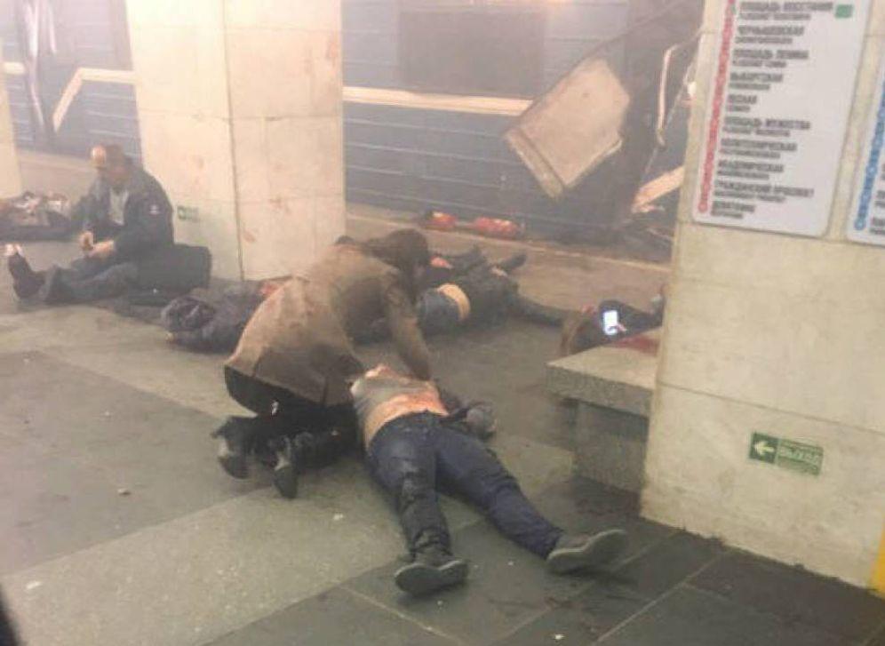 Foto: Las imágenes del atentado en el metro de San Petersburgo
