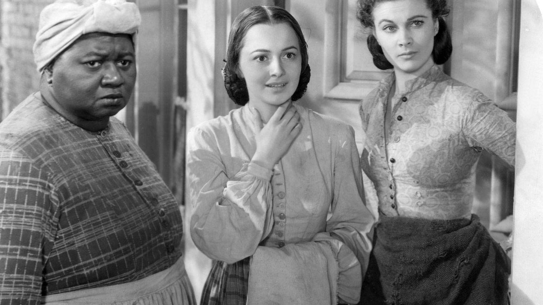 Junto a Olivia de Havilland y Vivien Leigh en 'Lo que el viento se llevó' (1939).
