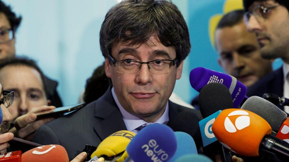 Foto: El expresidente catalán Carles Puigdemont, desde Bruselas. (Reuters)