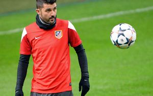 Villa se 'examina' en Pamplona para ver si está listo ante el Madrid