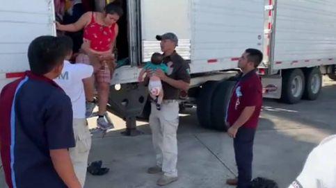 Detienen a cerca de 800 migrantes que viajaban en cuatro camiones en el sur de México