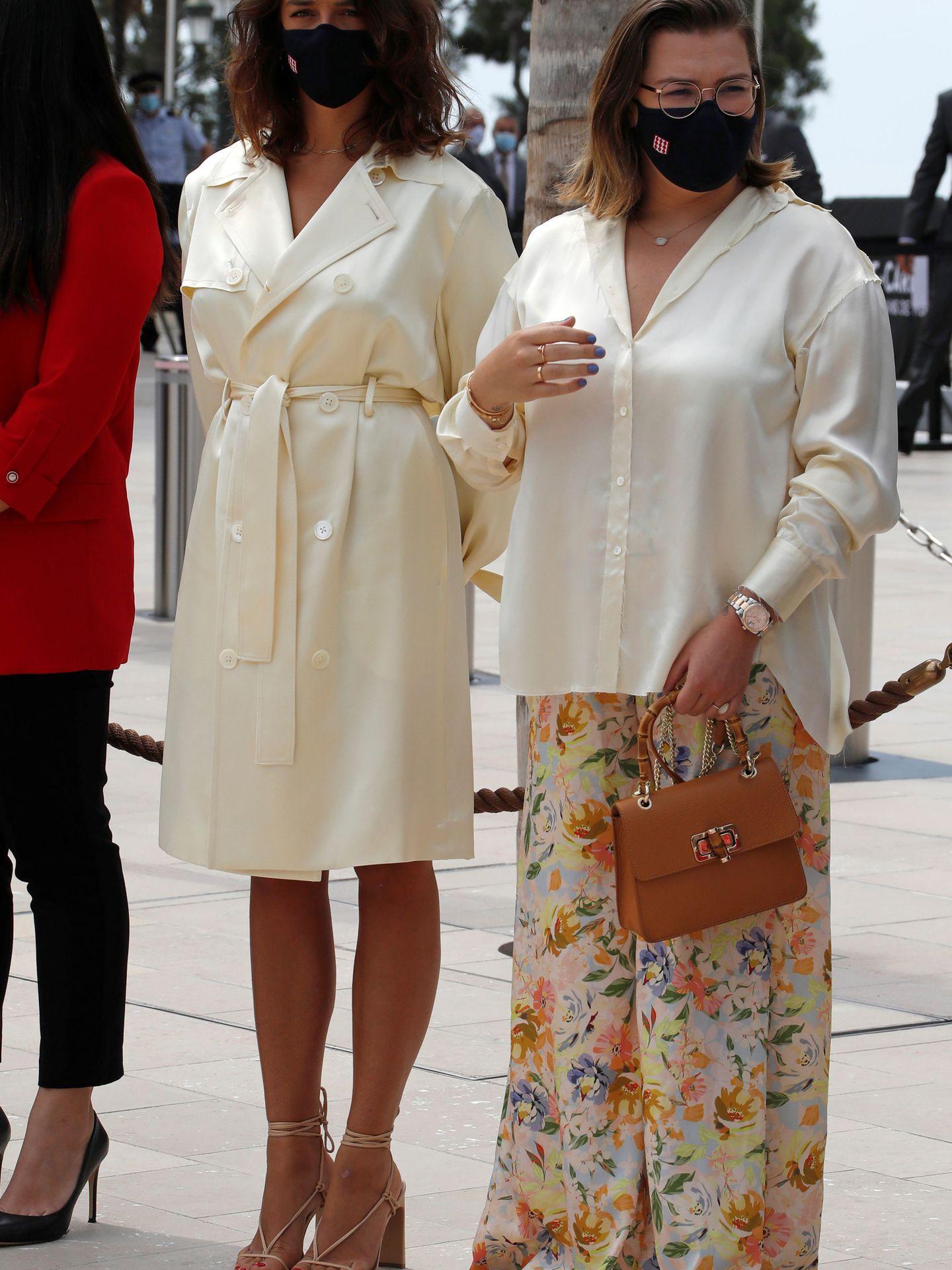 Pauline Ducruet y Camille Gottlieb. (Reuters)