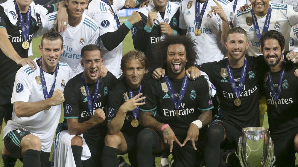 Foto: El Real Madrid se proclama 'supercampeón' de Europa tras ganar al Manchester United. (EFE)